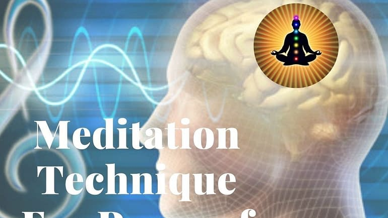 """Meditation Technique for """"Peace of Mind""""- The World Peace"""